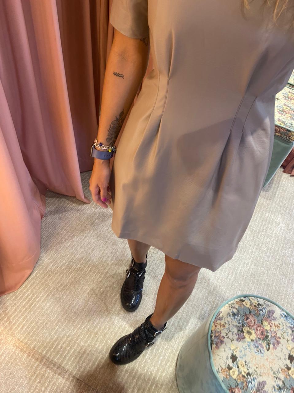 Vestido Couro PU - Curto