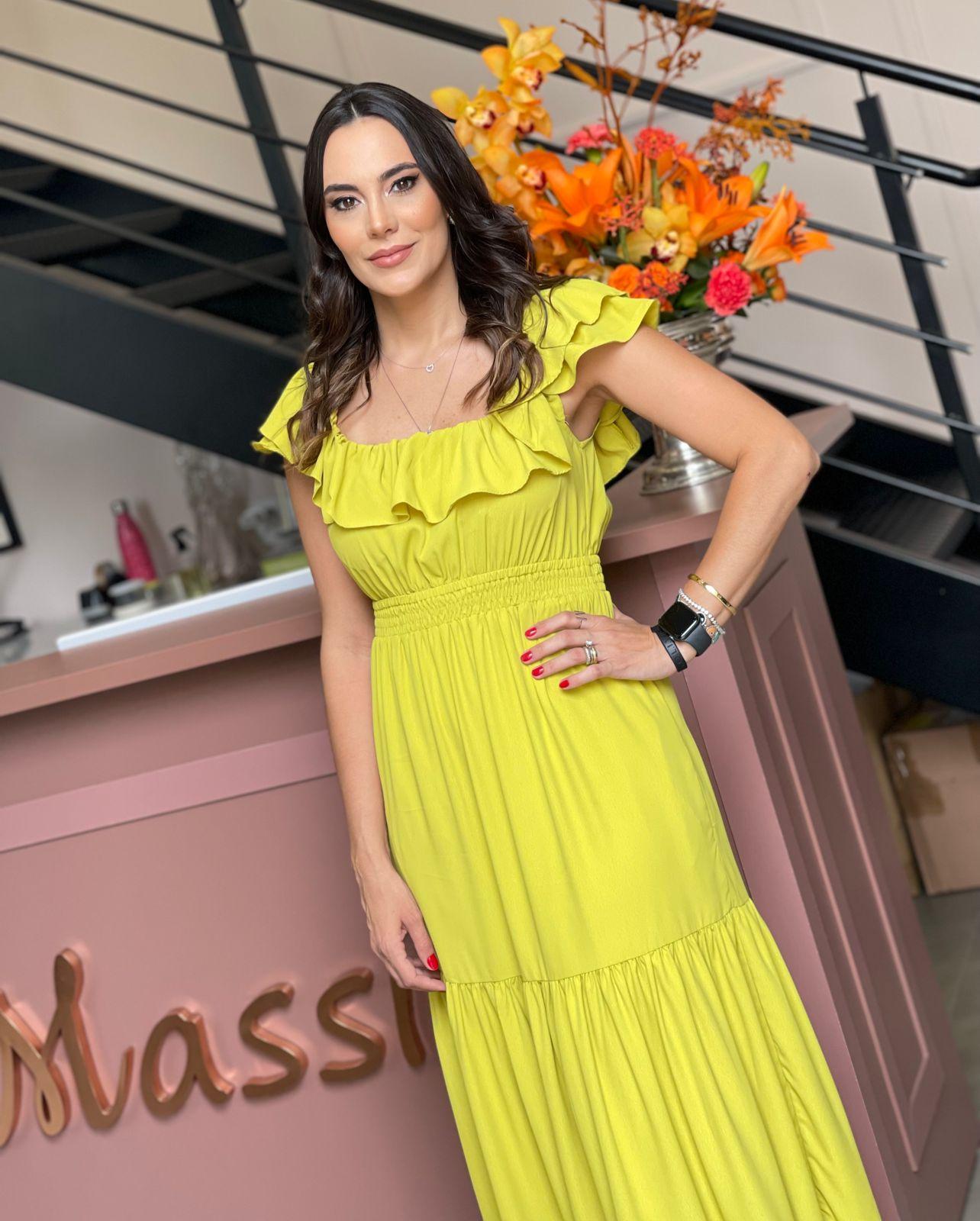 Vestido Crepe Marina