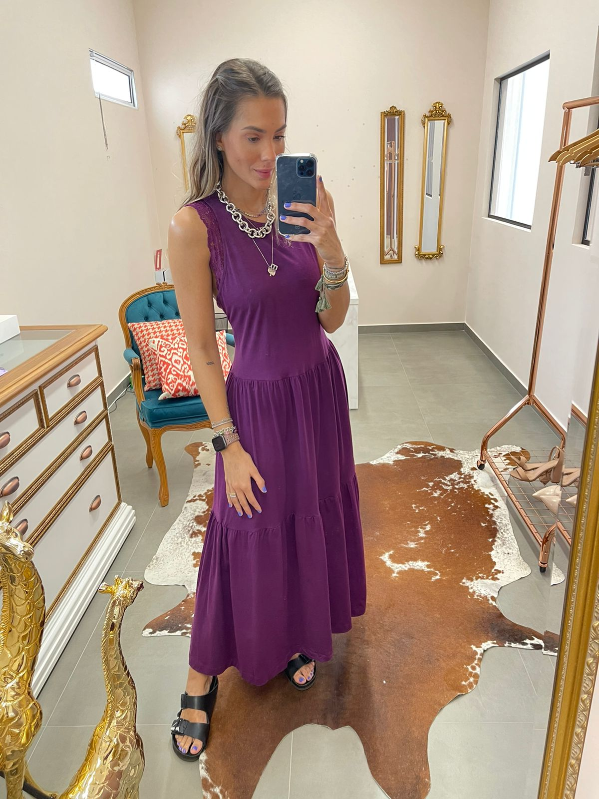 Vestido Malha Longo - Esmeral