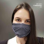 KIT 2 máscaras fashion - Estampa Poá Irregular