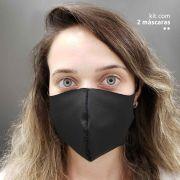KIT 2 máscaras fashion ninja - Preto