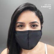KIT 2 máscaras fashion - Preta