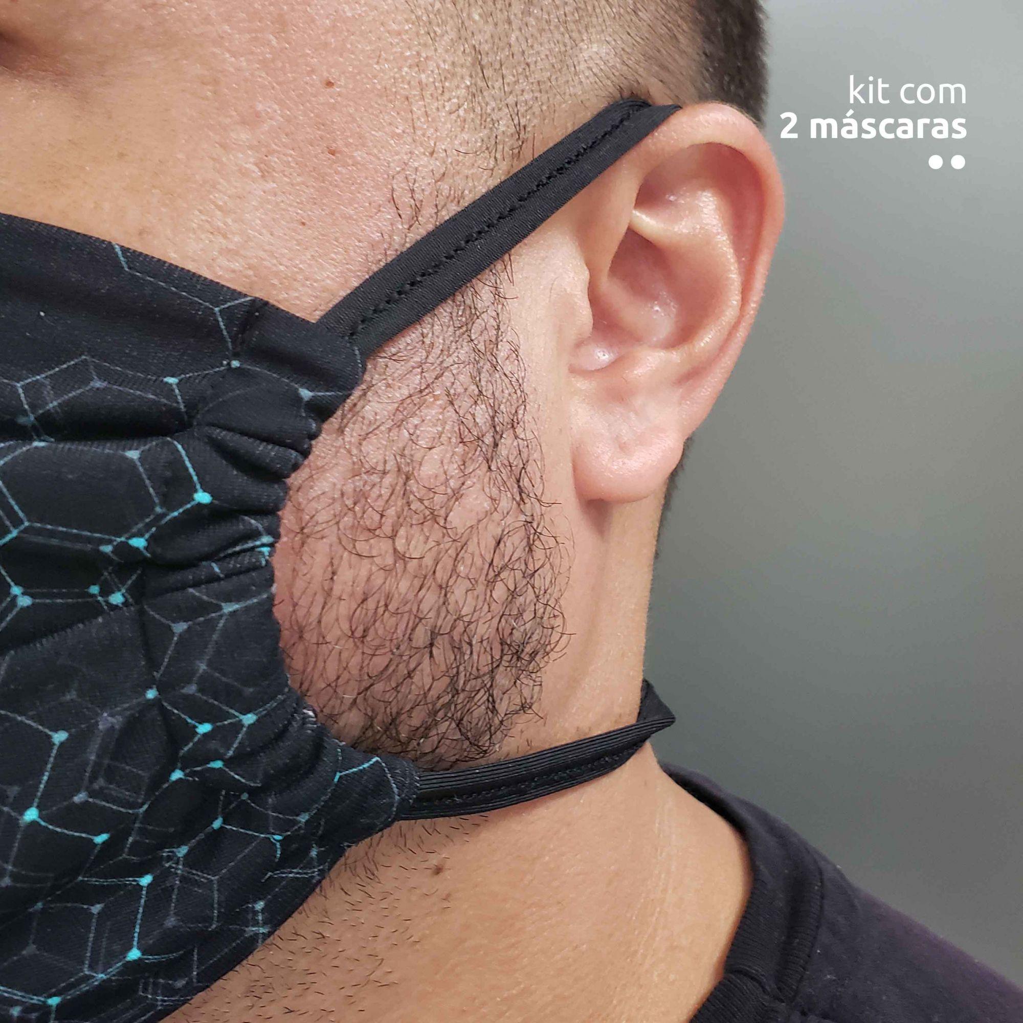 KIT 2 máscaras tecnológicas - Estampa Tech