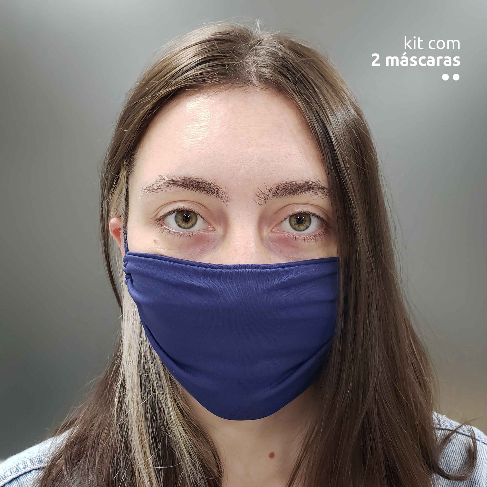 KIT 2 máscaras tenológicas - Azul Marinho