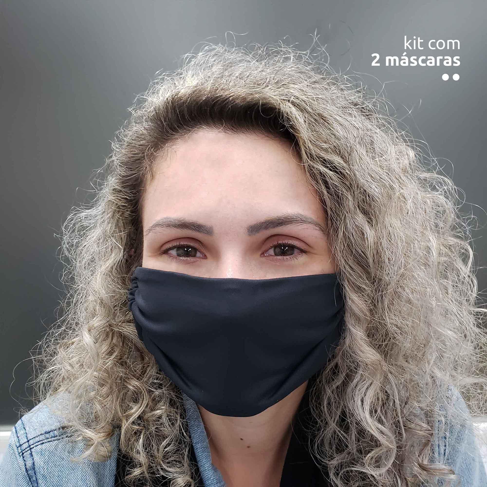 KIT 2 máscaras tecnológicas - Preto