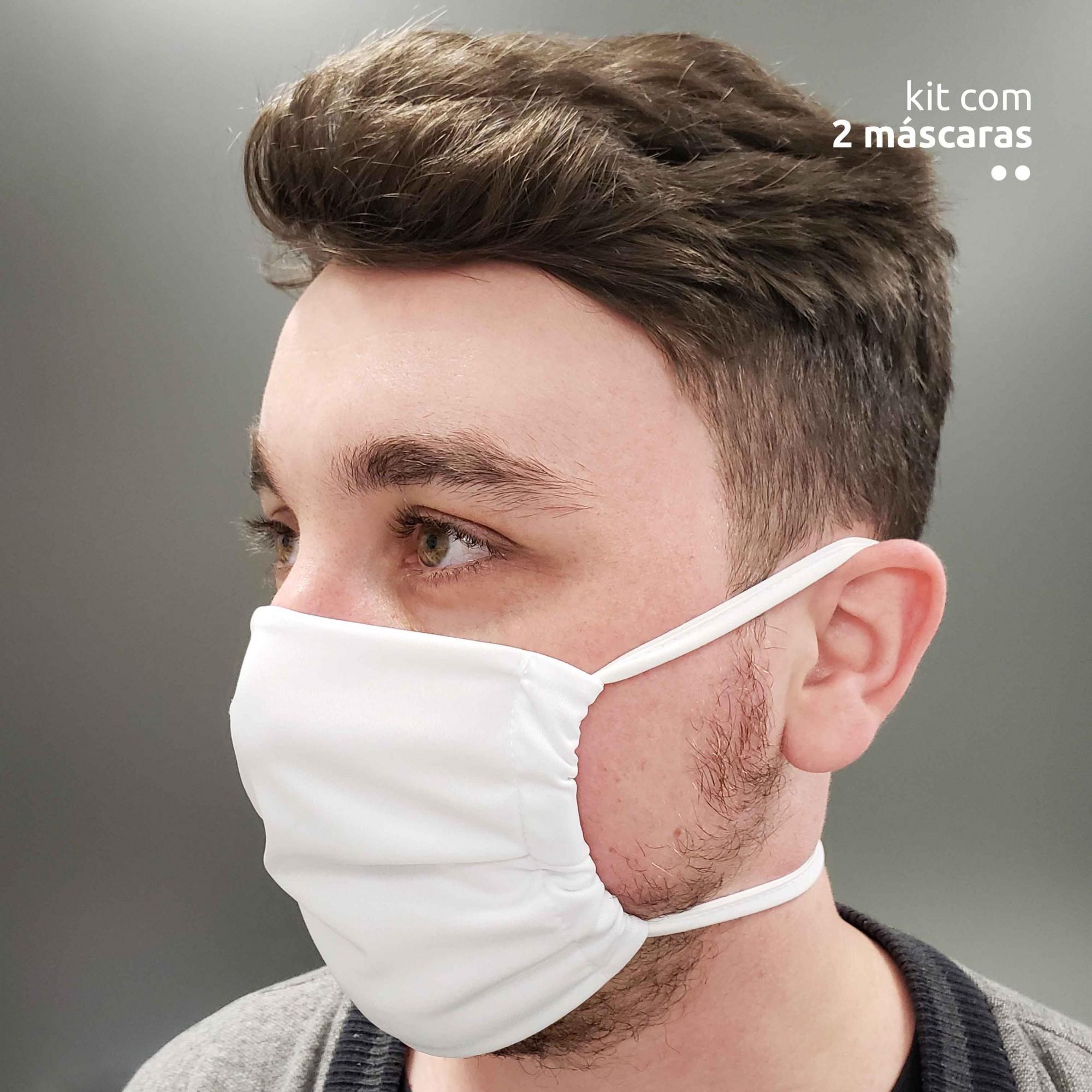 Kit com 2 máscaras antivirais - Branca