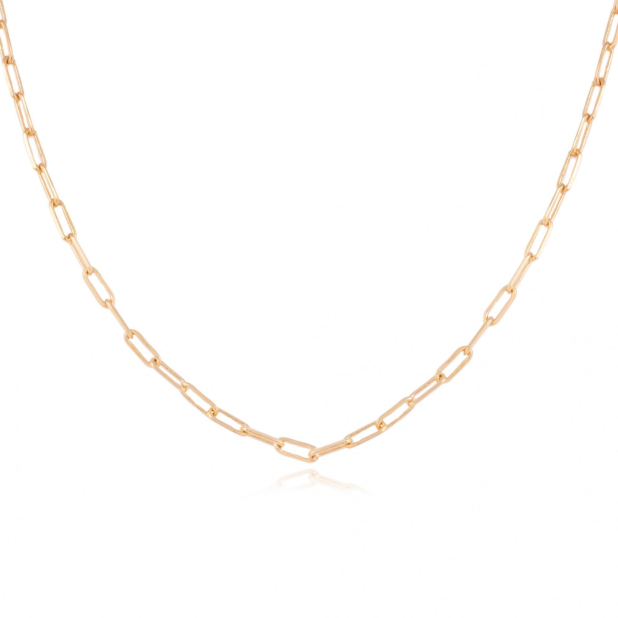 Colar cartier fina 45cm banhado a ouro 18k.  - romabrazil.com.br