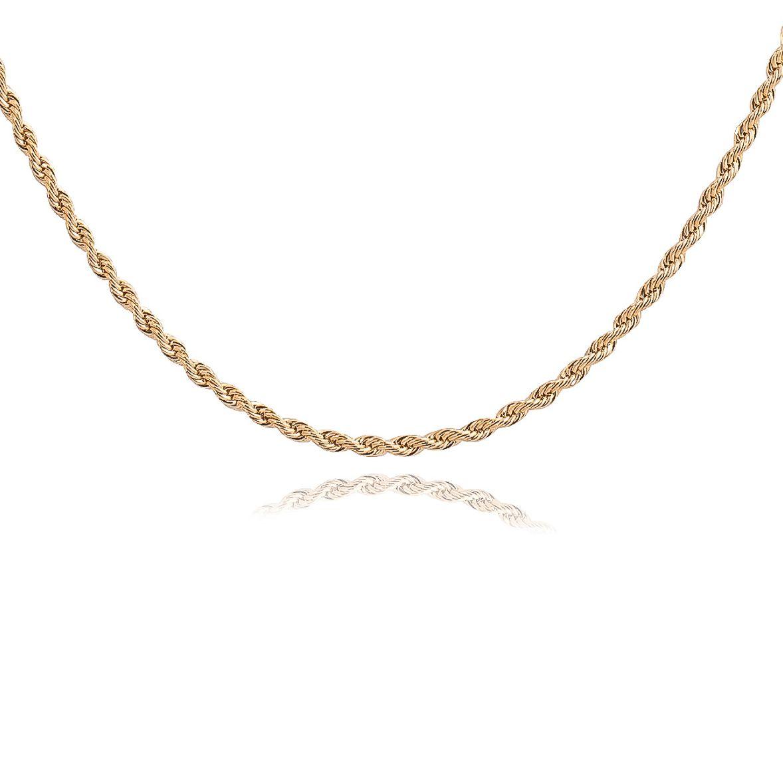 Colar cordão baiano banhado a ouro 18k.  - romabrazil.com.br