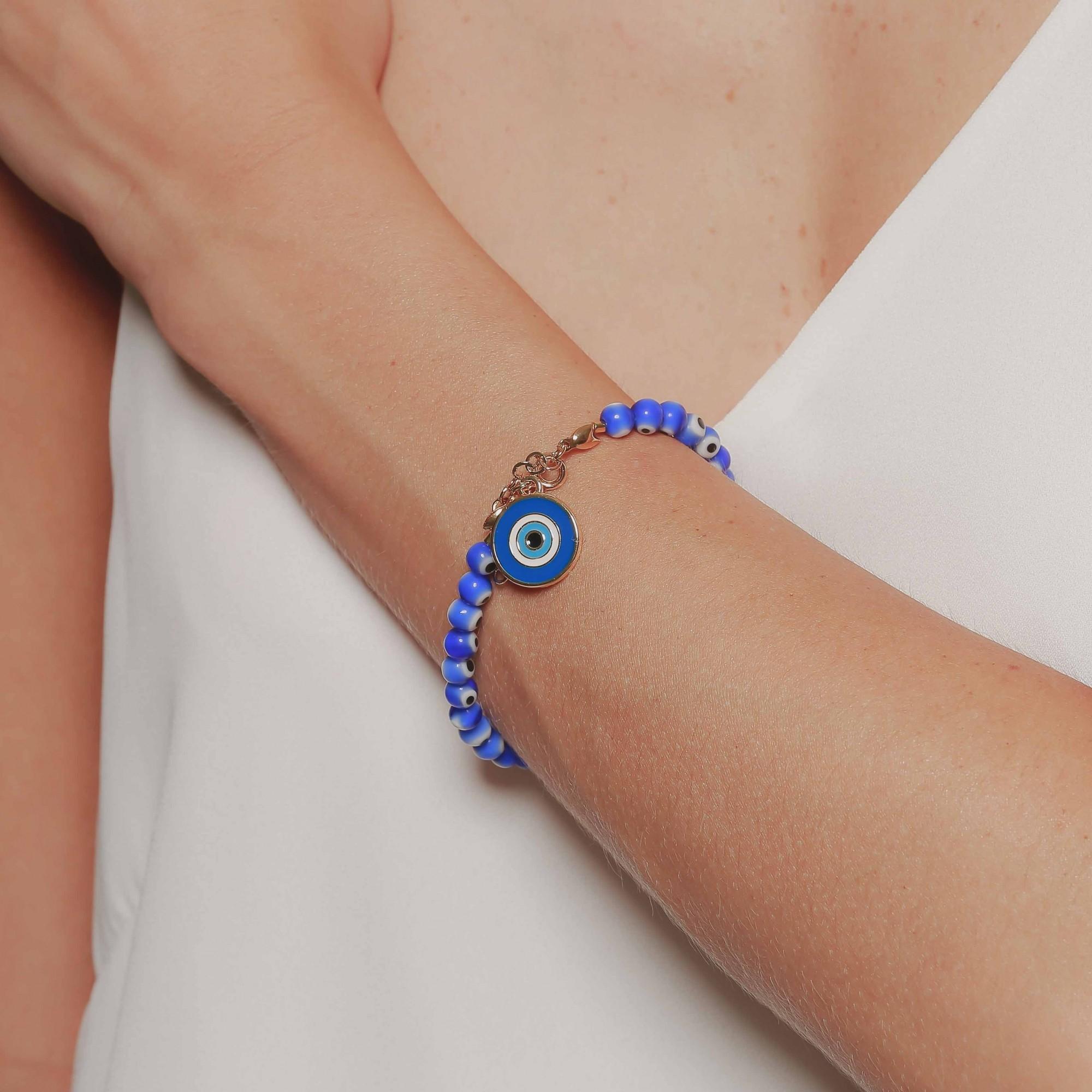 Pulseira olho grego com pingente  - bfdecor.com.br