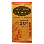 CACAU STORE 38% AO LEITE COM DAMASCO 90g