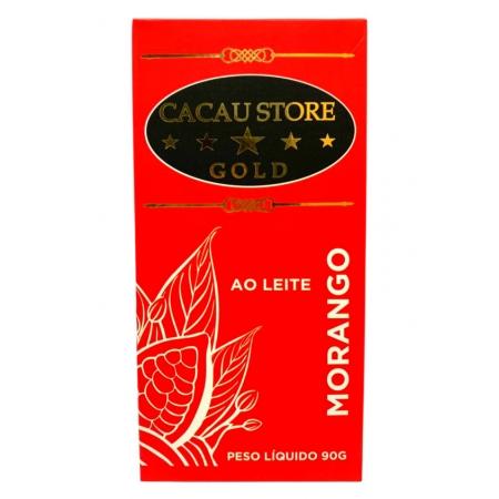 CACAU STORE GOLD AO LEITE MORANGO 90g