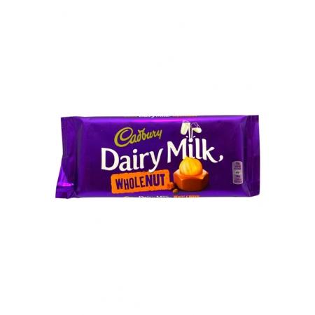 CADBURY DAIRY MILK  WHOLE NUT 120g