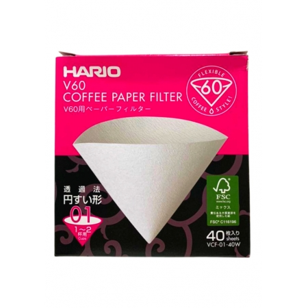 HARIO FILTRO PAPEL VCF-01 40W 40un