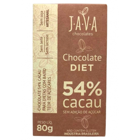 JAVA CHOCOLATE 54% DIET 80g