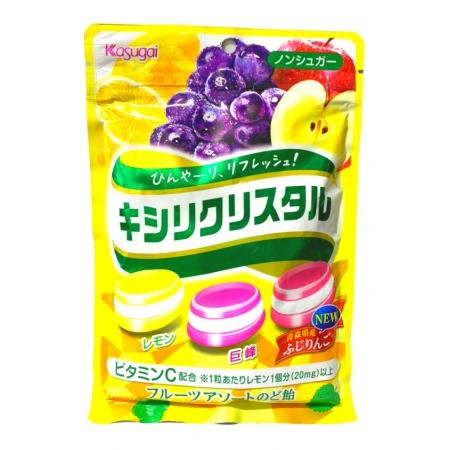 KASUGAI XYLITOL CRISTAL FRUITS ASSORT CANDY 67g