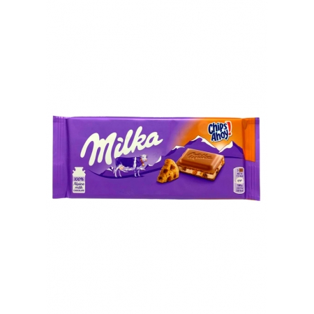MILKA CHOCOLATE 100g AO LEITE CHIPS AHOY