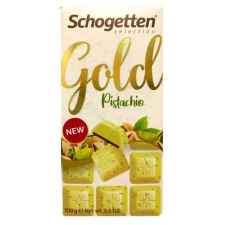 SCHOGETTEN CHOCOLATE GOLD PISTACHIO 100g