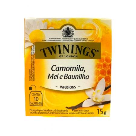 TWININGS CHA MISTO DE CAMOMILA, MEL E BAUNILHA 10P
