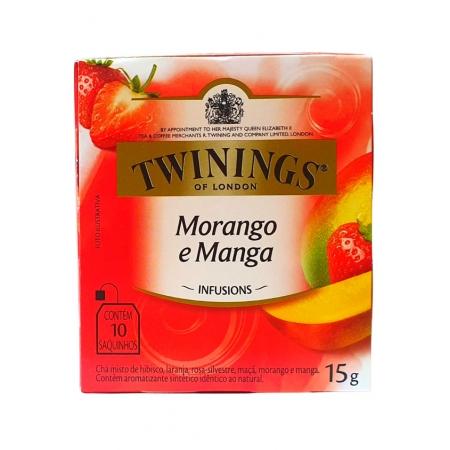 TWININGS CHA MORANGO E MANGA 10P 15 g