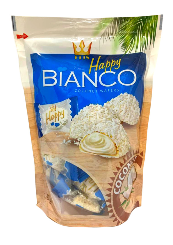 BIANCO WAFER HAPPY COCONUT 120g