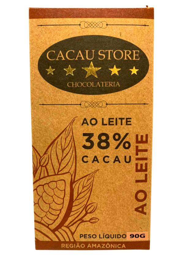 CACAU STORE 38% AO LEITE 90g