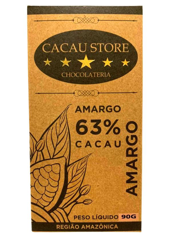 #CACAU STORE AMARGO 63% PURO 90g
