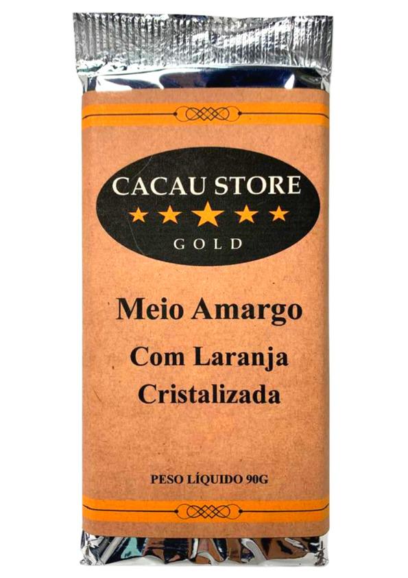 CACAU STORE UNIVERSO MEIO AMARGO C/ LARANJA 90g