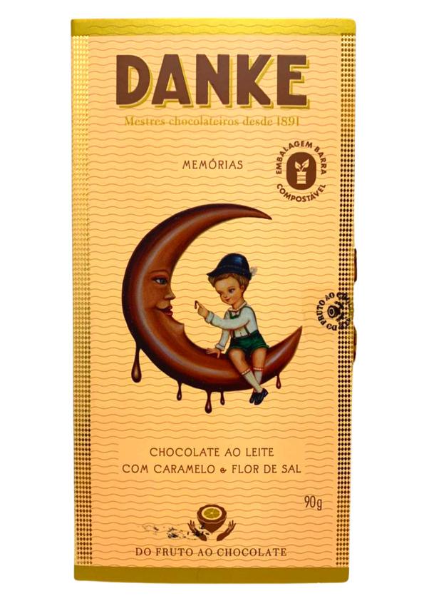 DANKE BARRA CHOC AO LEITE C/ CARAMELO E FLOR DE SAL 90g
