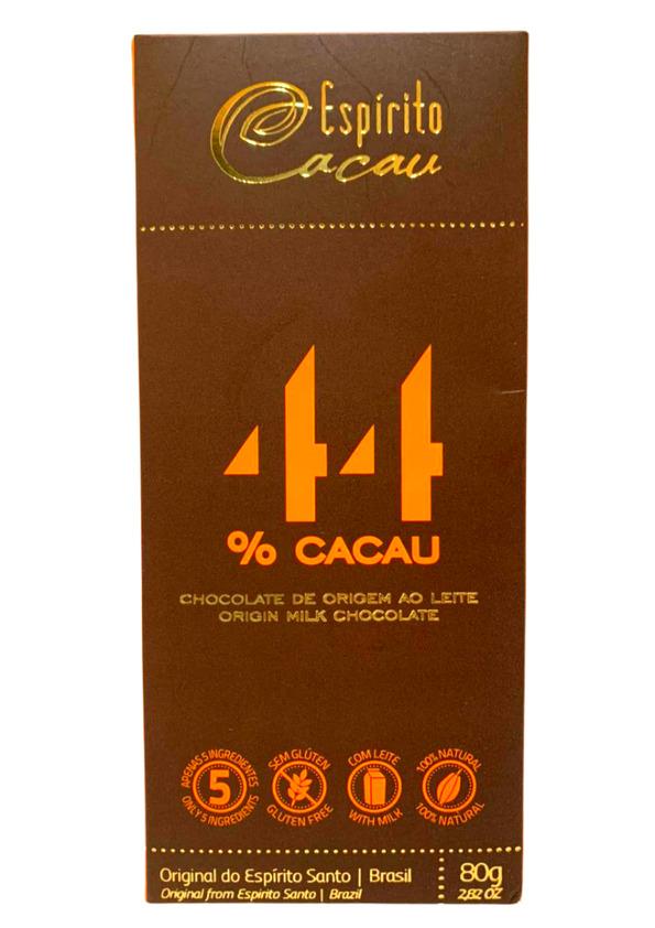 ESPIRITO CACAU CHOCOLATE 44% AO LEITE 80g