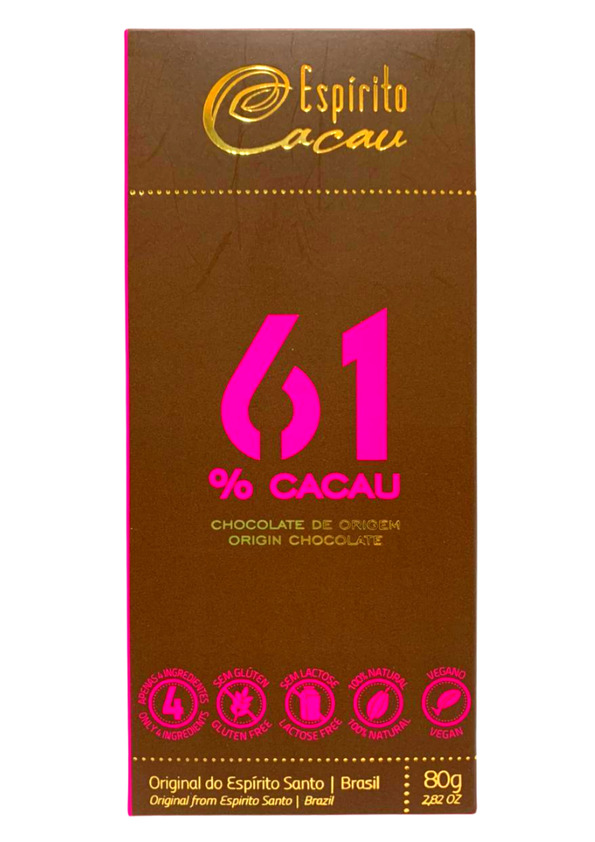 ESPIRITO CACAU CHOCOLATE 61% 80g