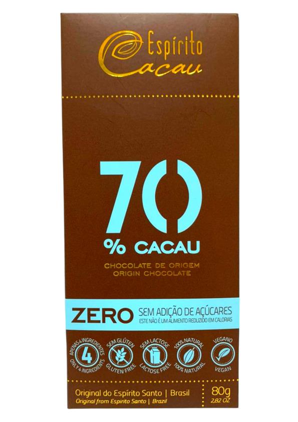ESPIRITO CACAU CHOCOLATE 70% 80g