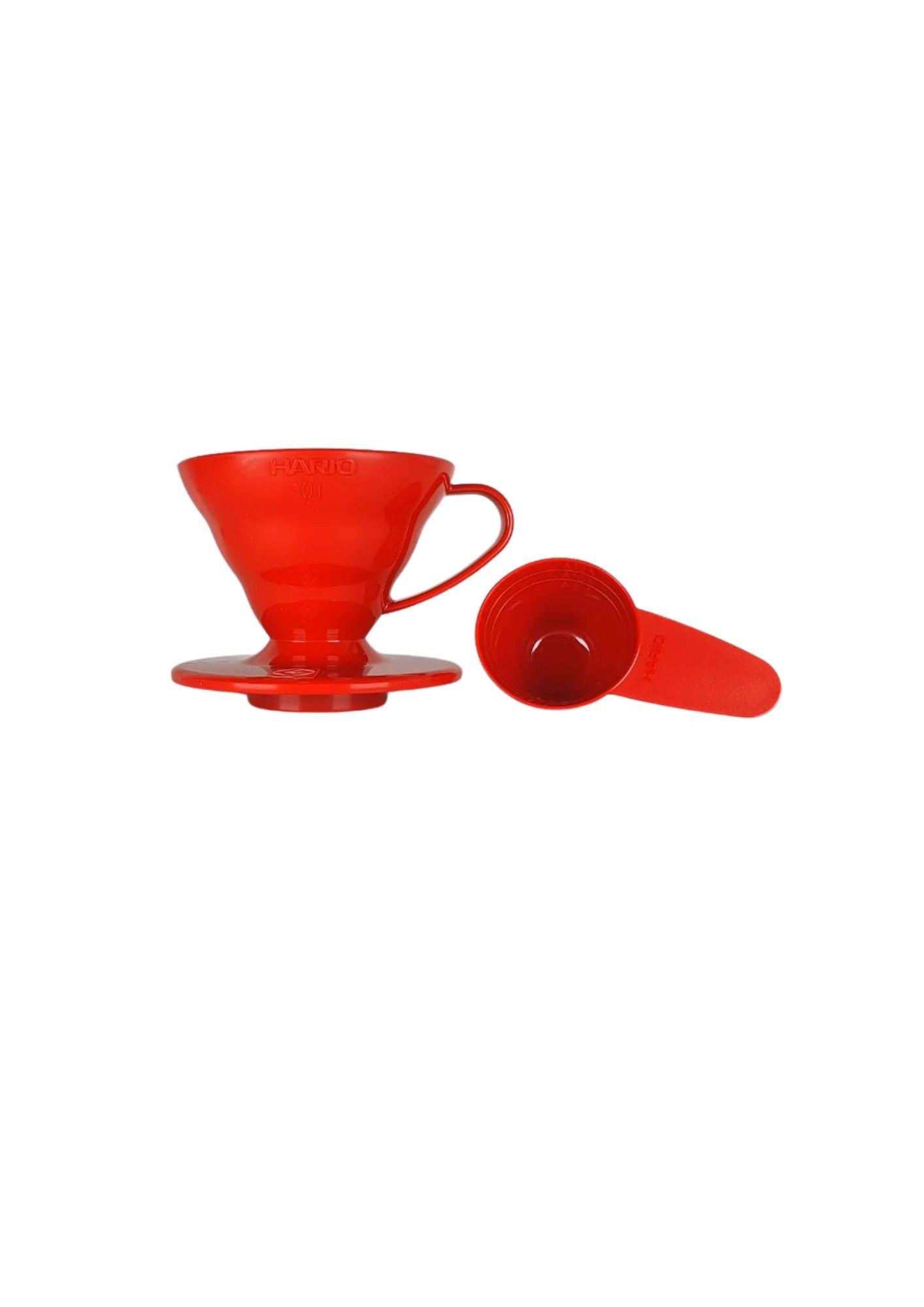 HARIO COADOR DE CAFE V60 01 VD-01 RED