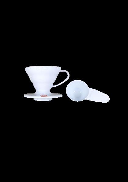 HARIO COADOR DE CAFE V60 01 VD-01 WHITE