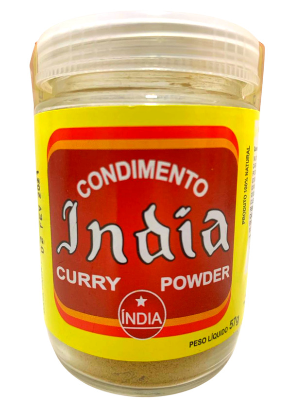 INDIA CURRY PO VIDRO 57g