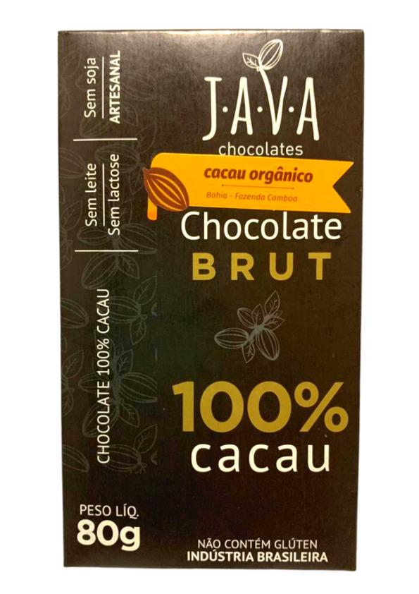 JAVA CHOCOLATE 100% CACAU BRUT 80g