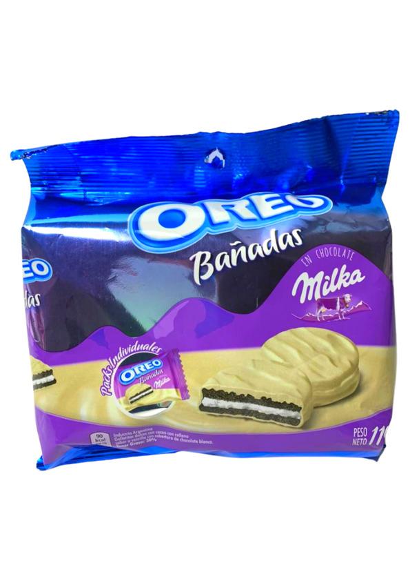 MILKA BISC OREO BANADAS CHOCOLATE BRANCO 119g
