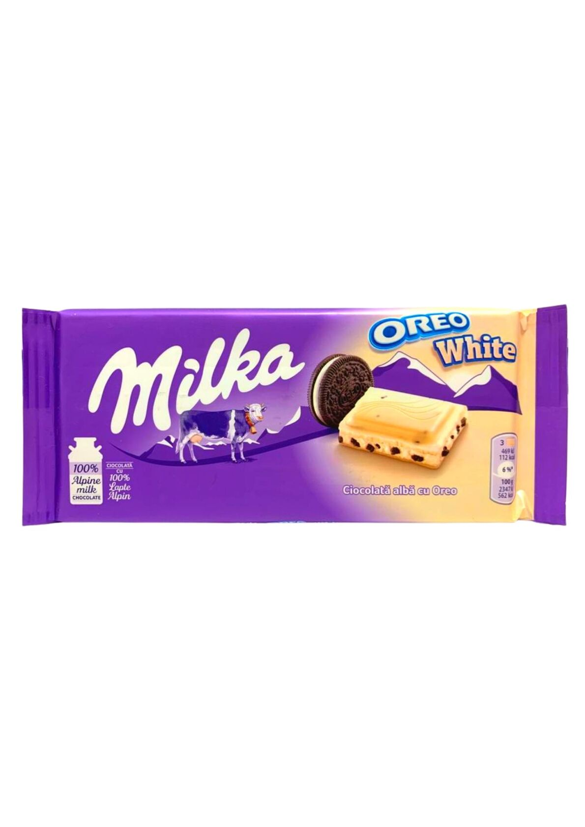 MILKA CHOCOLATE OREO WHITE 100G