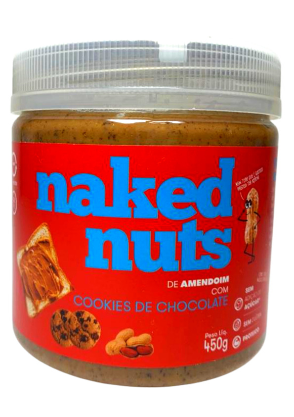 NAKED NUTS PASTA AMENDOIM C/COOKIES CHOCOLATE 450g