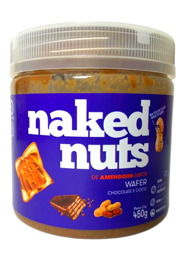 NAKED NUTS PASTA AMENDOIM C/WAFER DE CHOCOLATE E COCO 450g