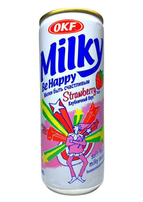 OKF MILKS BE HAPPY STRAWBERRY 250ml