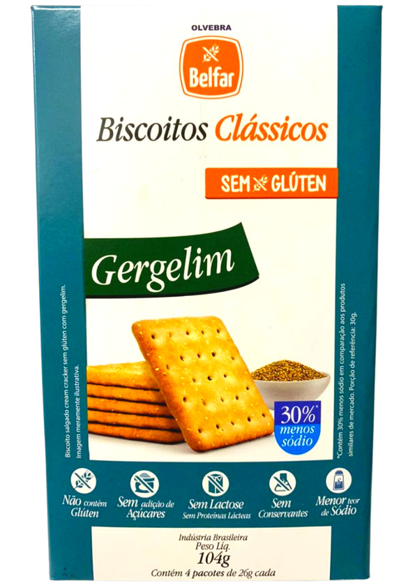 OLVEBRA BELFAR BISCOITO GERGELIM 104g