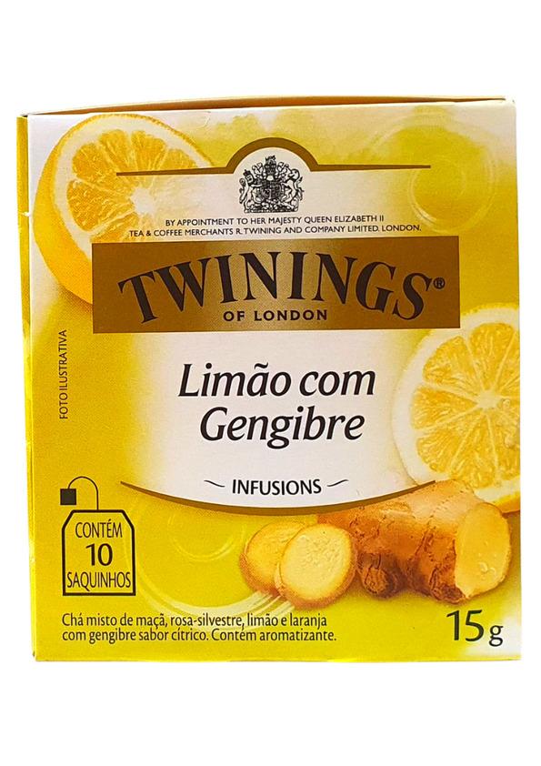 TWININGS CHA MISTO DE LIMAO COM GENGIBRE 10P 15 g