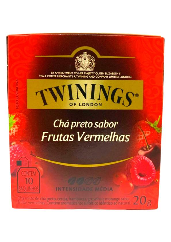 TWININGS CHA PRETO E FRUTAS VERMELHAS 10P 20 g