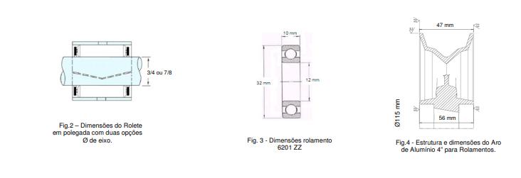 """ARO DE ALUMINIO 4"""" PARA ROLAMENTO (6201 ZZ)*"""