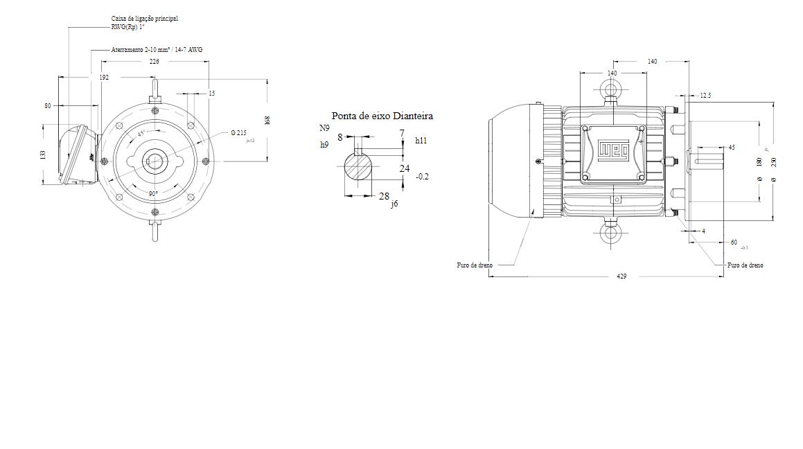 MOTOR ELETRICO WEG W22 IR3 PREMIUM 7,5CV 4P TRIF.2/3V 60HZ B5D/CÇ112