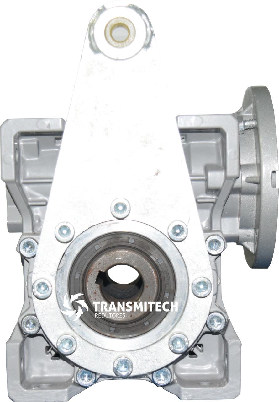 MOTORREDUTOR TM063 50:1 C/FLANGE DE ENTRADA B14/CÇ80, C/BRAÇO DE TORÇÃO, EIXO SAIDA VAZADO 25MM