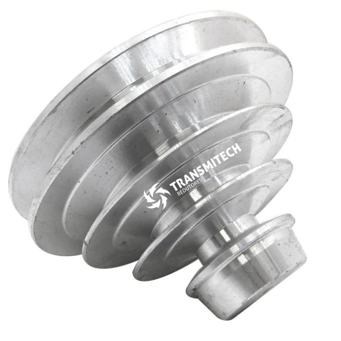 Polia de  Alumínio Escalonada Perfil A 65X90X115X140mm