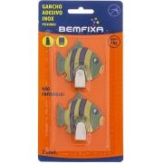 Gancho Adesivo Peixe com 2 Unidades
