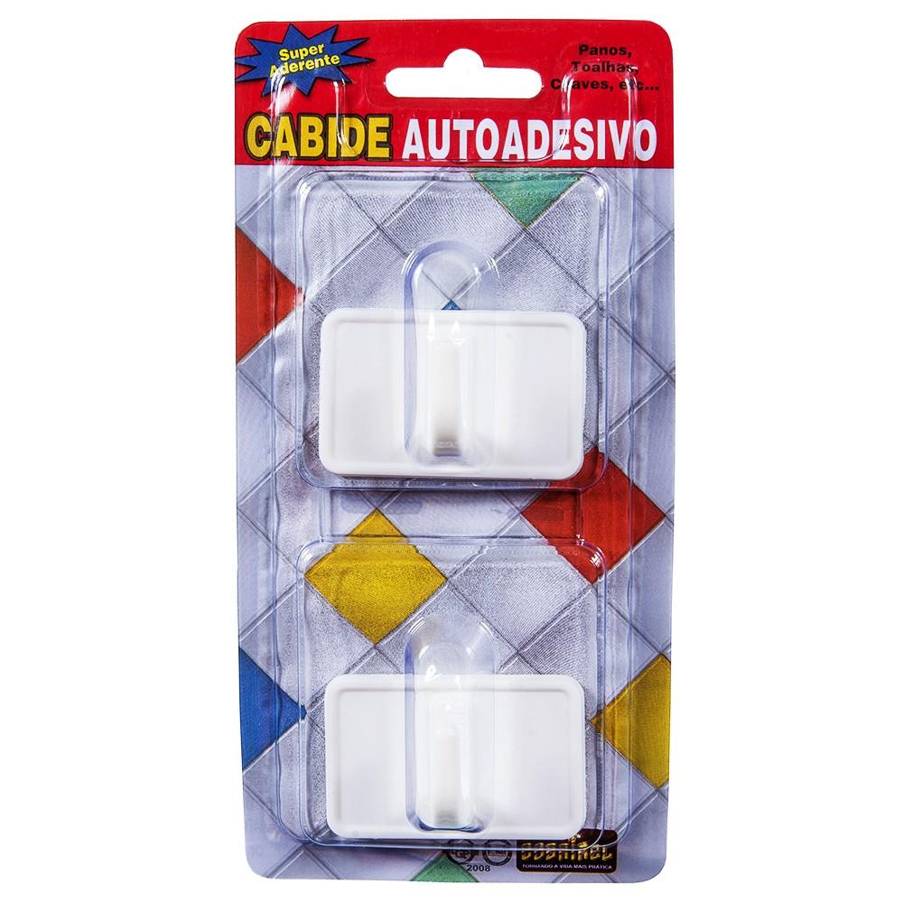 Gancho Adesivos Plastico com 2