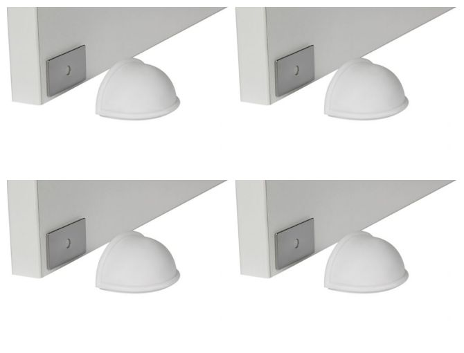 Kit Prendedor de Porta Magnético Branco 4 Unidades